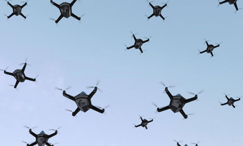 NPS Researchers Developing the Defensive Playbook Against Large-Scale Drone Swarms