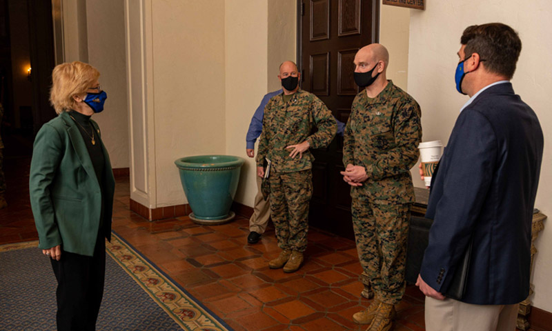 Sergeant Major of the Marine Corps Visits NPS to Discuss Enlisted Education
